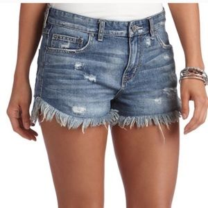 Free People Distressed Jean Shorts Size 27